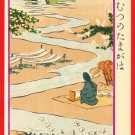 1907 JAPAN Japanese Postcard KOKKEI SHINBUN TAMA River #EAK62