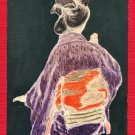 Antique JAPAN Japanese Postcard Original Art Hand Painting Woman Kimono #EAW88