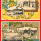 Lot of 2 Antique JAPAN Japanese Postcards Imperial Army Headquarters in 1916 #EM161