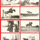Lot of 8 Antique JAPAN Japanese Postcards Army Horseman Horseback Riding #EM164
