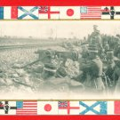 Antique JAPAN Japanese Postcard WWI Army Soldiers At Front #EM182