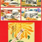 Set of 4 JAPAN Japanese Postcards w/ Folder Military Art Army Maneuvers in 1918 #EM189