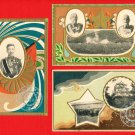 Lot of 3 JAPAN Japanese Postcards Army Maneuvers in 1917 Emperor TAISHO Military Commanders #EM195