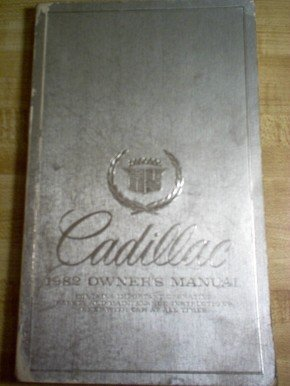 1982 Cadillac Owners Manual