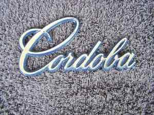 OEM Chrysler Cordoba Body/Dash Emblem. Pot Metal!