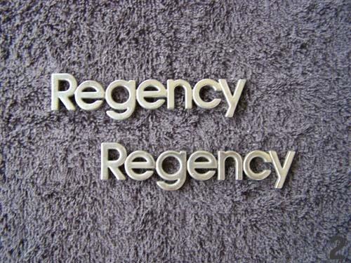 OEM Regency Body/Dash Emblems EXCELLENT Condition. Type 2