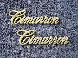 OEM GOLD Cadillac Cimarron Body/Dash Emblems
