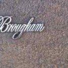 OEM Cadillac Brougham Body/Dash Emblem