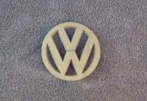 OEM Volkwagen, VW Body/Dash/Trunk Emblem. 8cm Tan