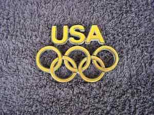 OEM GOLD USA Olympics Edition Body/Dash Emblem. EXCELLENT Condition!