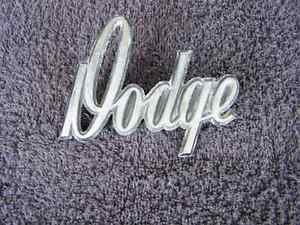 OEM Dodge Body/Dash Emblem. Pot metal with pins! Type 1