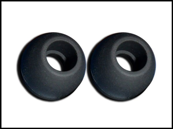 3 pair Black Medium Scosche Replacement Ear Buds Tips Gels Sleeves Plugs