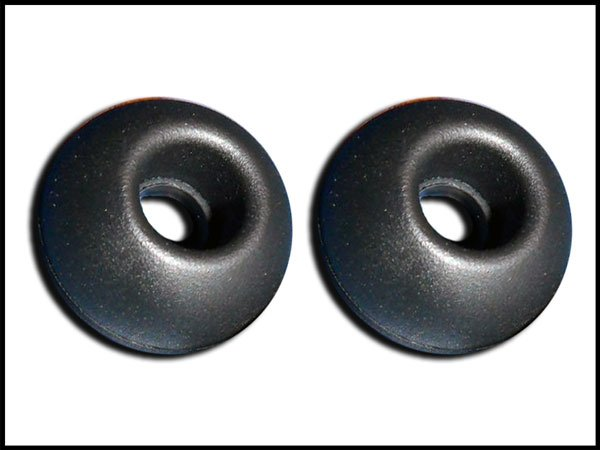 3 pair Black Large Scosche Replacement Ear Buds Tips Gels Sleeves Plugs