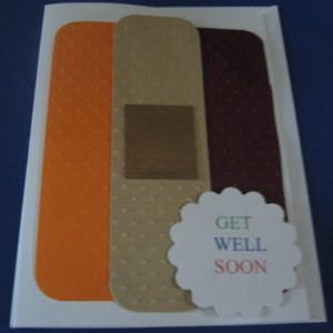 Bandaid Get Well Soon  Handmade Greeting Card G2