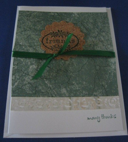 Many Thanks Friends  handmade Greeting Card T6
