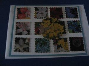 Spring Flowers handmade greeting card M1