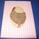 Thinking of You Peek a boo  Hen Rooster Greeting Card TH8
