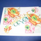 Thinking of You Pinwheel flowers  Greeting Card TH12