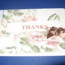 Thanks and brown bow  handmade Greeting Card T10
