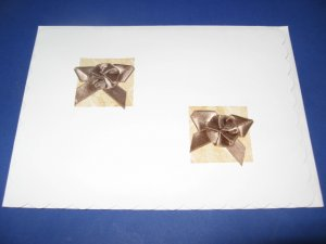 Thanks brown bows handmade Greeting Card T19