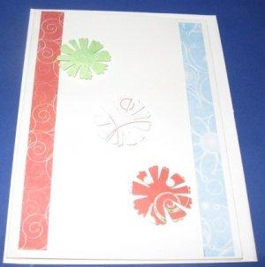 Stripes and pinwheels handmade greeting card M10