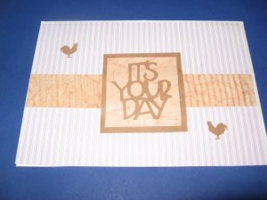 Rooster It's your Day Purple Birthday Handmade Greeting Card B15