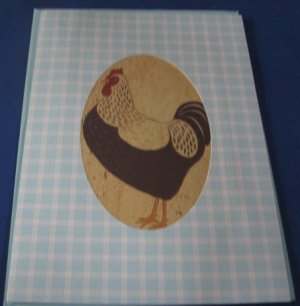Rooster It's your Day Blue Birthday Handmade Greeting Card B16