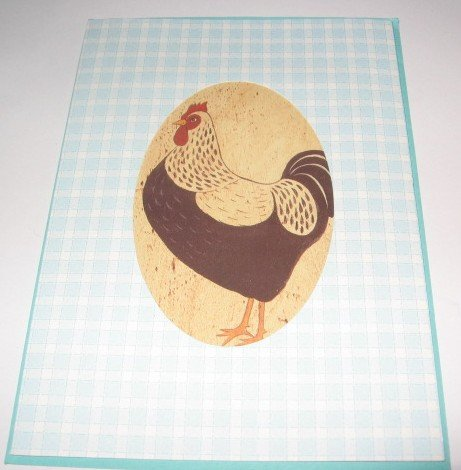 Rooster  Birthday Blessings Handmade Greeting Card B17