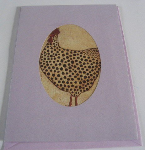 Rooster  Birthday Blessings purple Handmade Greeting Card B18