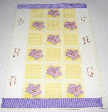 Birthday Wishes Violets purple Handmade Greeting Card B19