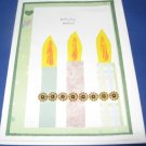 Birthday Wishes Candles Handmade Greeting Card B25