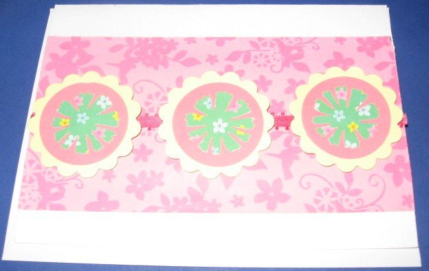 Birthday Hello Pinwheels Handmade Greeting Card B28