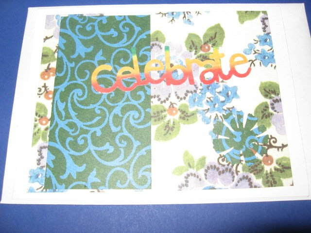 Birthday Celebrate Handmade Greeting Card B29