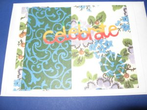 Birthday Celebrate Handmade Greeting Card B29