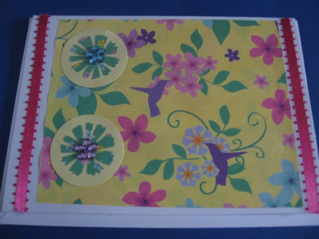 Hummingbirds birthday Handmade Greeting Card B32