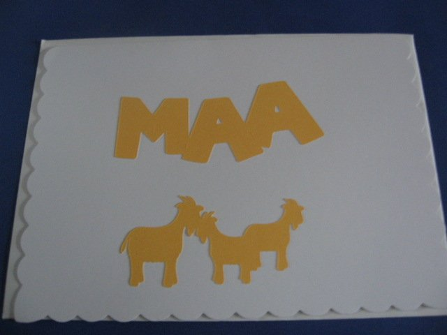 Birthday Goats MAA Handmade Greeting Card B37
