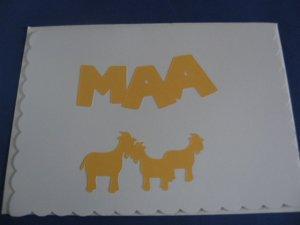 Birthday Goats MAA Handmade Greeting Card B37