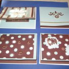 Handmade Get Well greeting card assortment lot of 4 A11