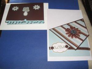Handmade Get Well greeting card assortment lot of 2 A14 Flowers