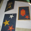 Stars  greeting card assortment lot of 3 A16