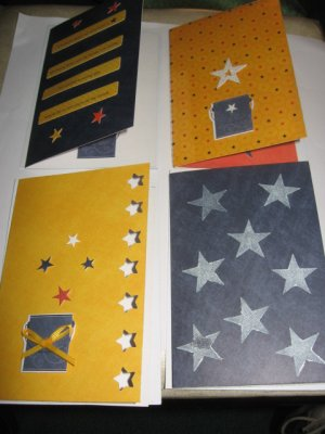 Stars  greeting card assortment lot of 4 A17