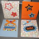 Happy Birthday handmade greeting card assortment lot of 4 A21