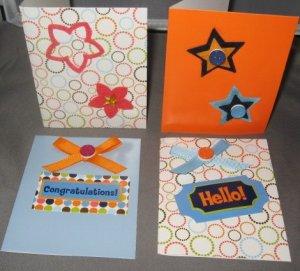 Happy Birthday handmade greeting card assortment lot of 4 A21