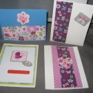 Butterflies and flowers handmade greeting card assortment lot of 4 A22