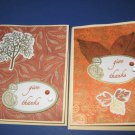 Two Handmade Give Thanks Thanksgiving Card Greeting Card THG5
