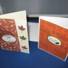 Two Handmade Give Thanks and Fall Thanksgiving Cards THG8