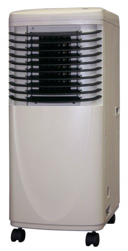 The Soleus LX-120 portable air conditioner comes with heavy duty casters for easy maneuverability and a 1 year warranty.
