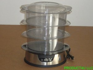 COOK'S ESSENTIALS CES2D 3 TIER food STEAMER