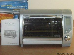 Toastmaster TLWTOB6 Lightwave Toaster Oven Broiler w/Halogen Heating System