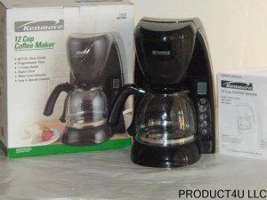 Kenmore 12 Cup Coffee Maker KBC12BLK